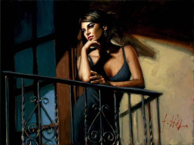 Fabian Perez - Saba at the Balcony VIII