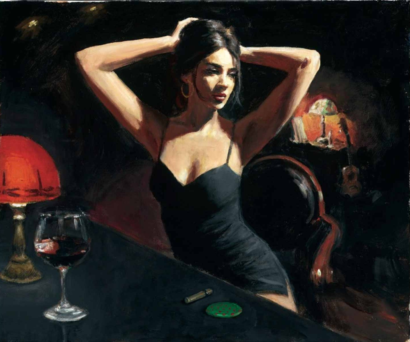 Fabian Perez - Yelena With Tiffany