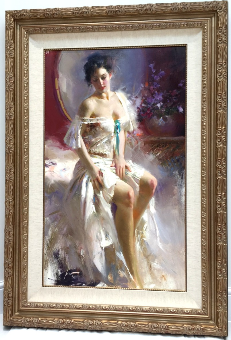 Ethereal Beauty by Pino Original Painting, Oil on Canvas Size: 40 x 24
