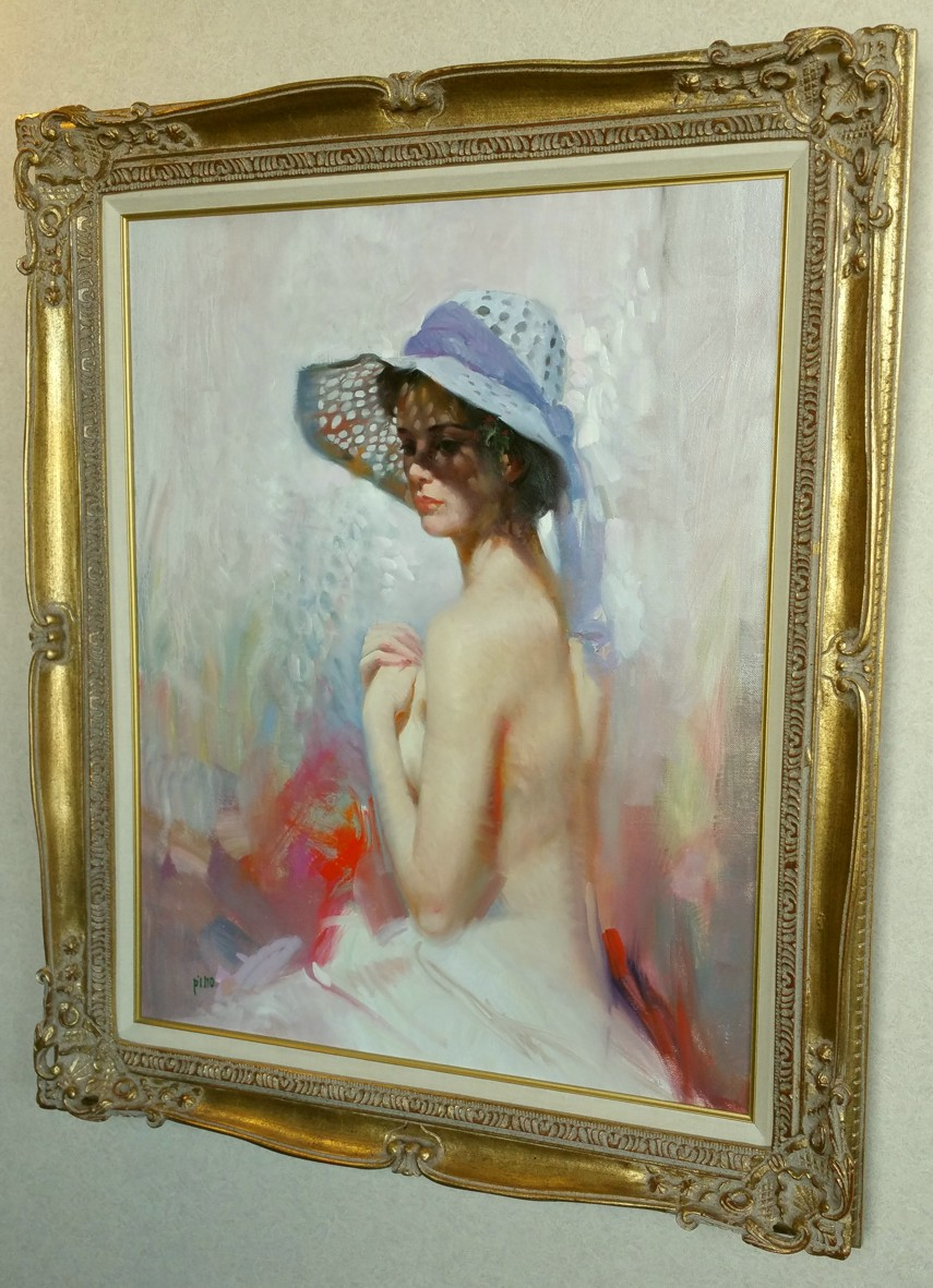 LADY IN SPRING BONNET  by Pino Original Painting, Oil on Canvas