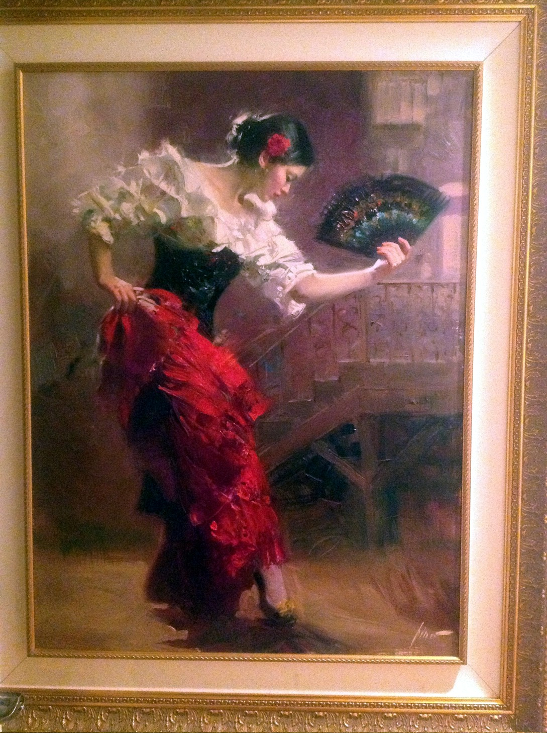 Spanish Dancer by Pino Original Painting, Oil on Canvas Size: 40 x 30