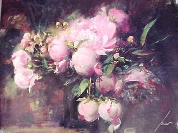 Peonies 2004 Giclee on Canvas 24 x 30 by Pino