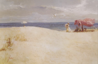 White Sand 2001 Giclee on Canvas 26 x 40 by Pino
