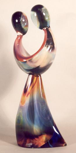 Dino Rosin - Just Friends - Calcedonia Glass sculpture from Murano, Italy