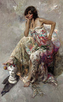 La Guapa Fine Art by Jose Royo - Serigraph on Panel
