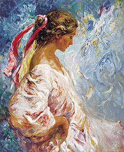 ENTRE AZULES Fine Art by Jose Royo