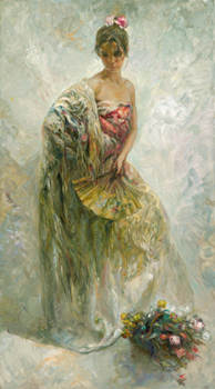 La Modelo Fine Art by Jose Royo - Serigraph on Panel