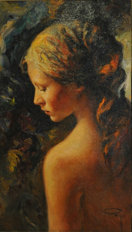 Adolescente Original Oil on Canvas Painting Fine Art by Jose Royo