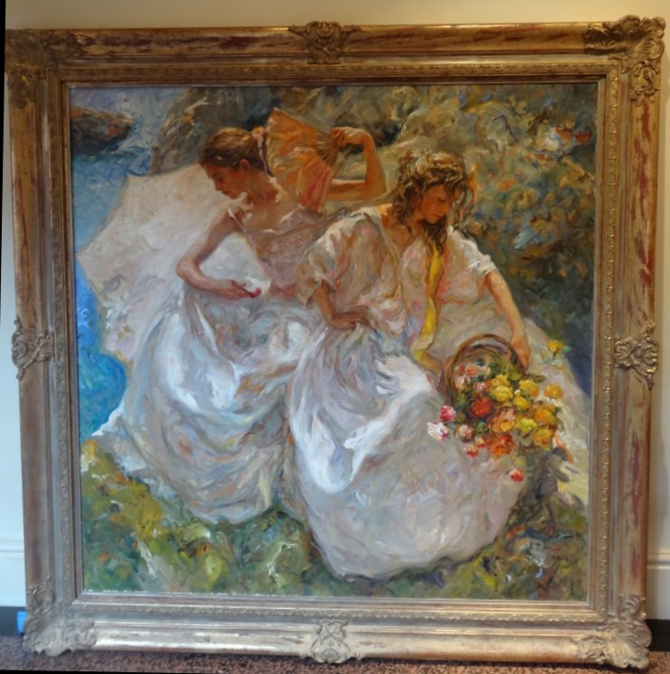 El Descanso Original Painting Fine Art by Jose Royo