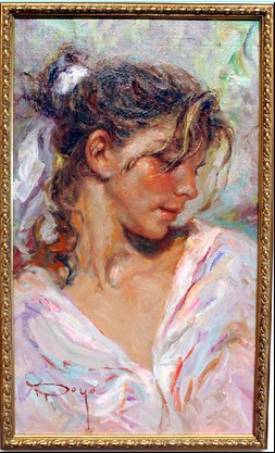 Frescura Original Oil on Canvas Painting Fine Art by Jose Royo