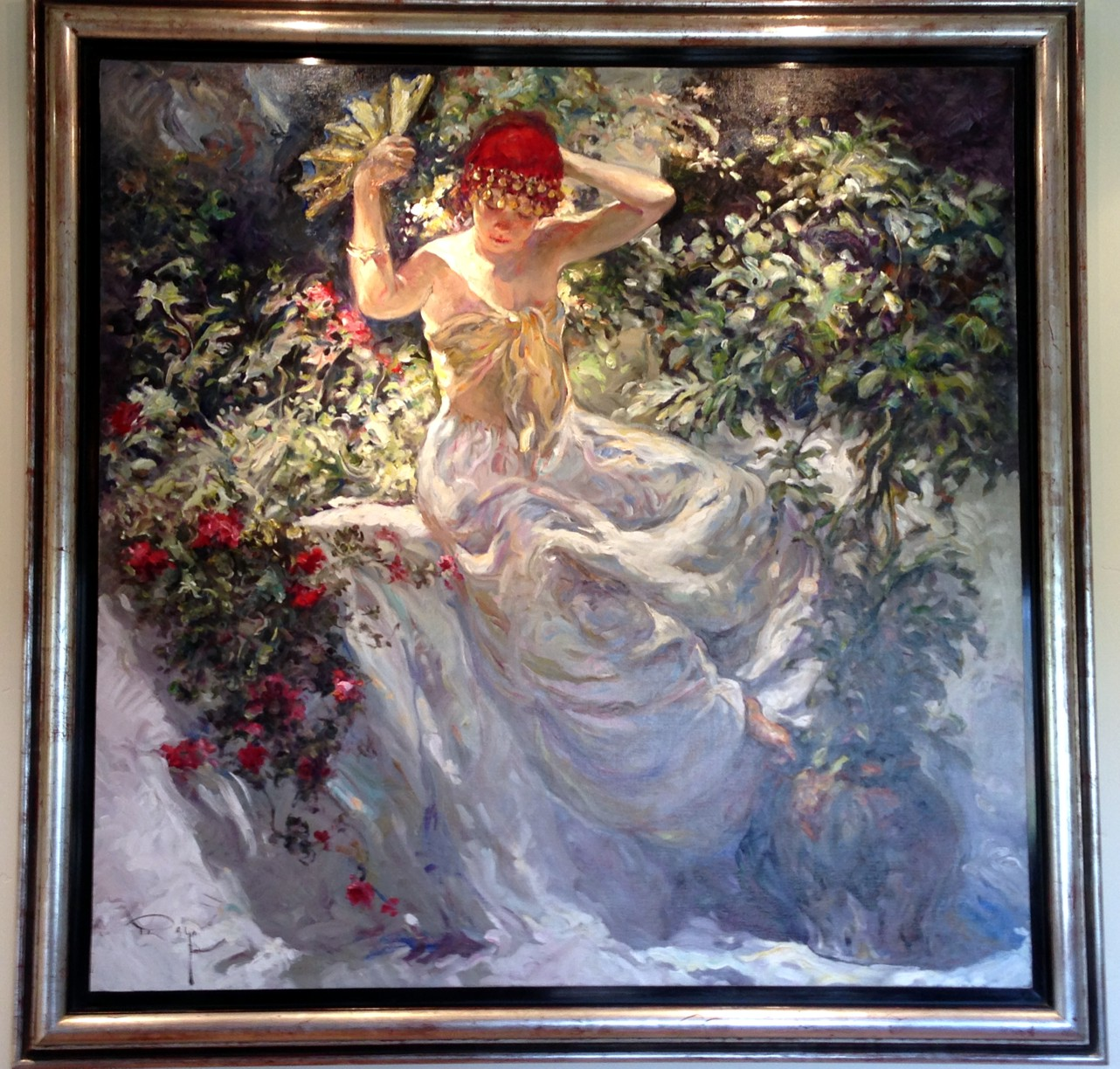 Perla Y Escarlata Original Oil on Canvas Painting Fine Art by Jose Royo
