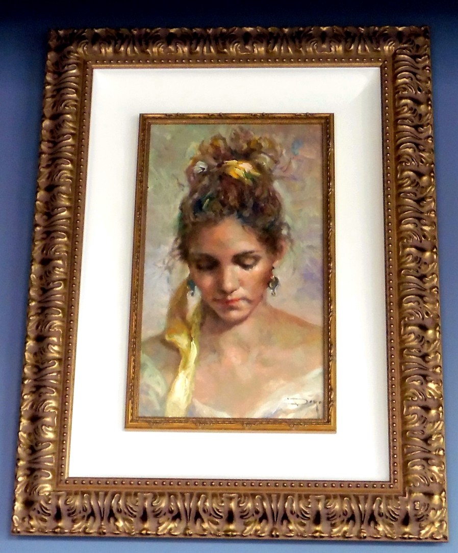 Tiffany Original Oil on Canvas Painting Fine Art by Jose Royo