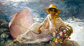 Jose Royo - En La Orilla - Serigraph on Panel