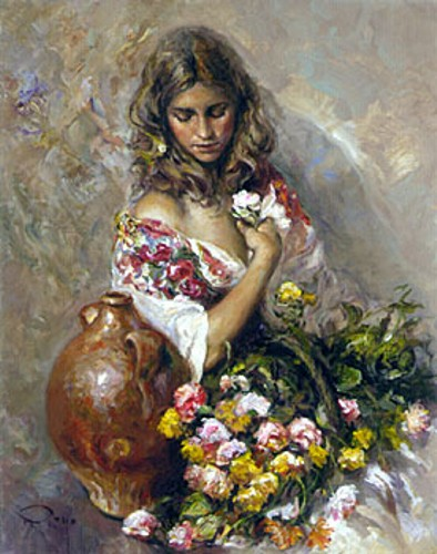 Jose Royo - Sentimiento Fine Art - Serigraph on Panel