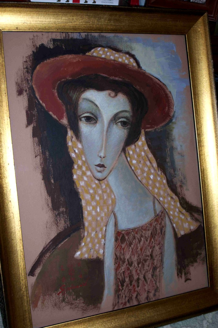 Sergey Smirnov - Summer Hat Original Oil on Canvas Painting