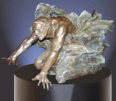M.L. Snowden - cataclasis active Bronze Sculpture