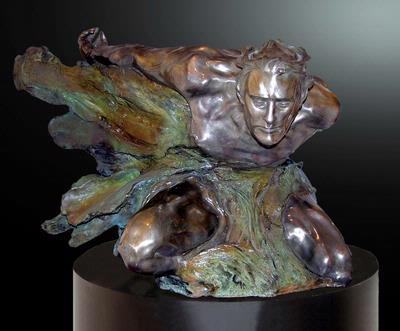 M.L. Snowden - cataclasis emerging Bronze Sculpture