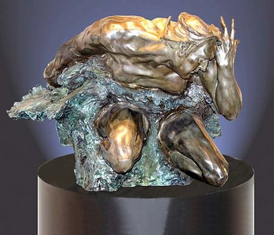 M.L. Snowden - cataclasis latent Bronze Sculpture