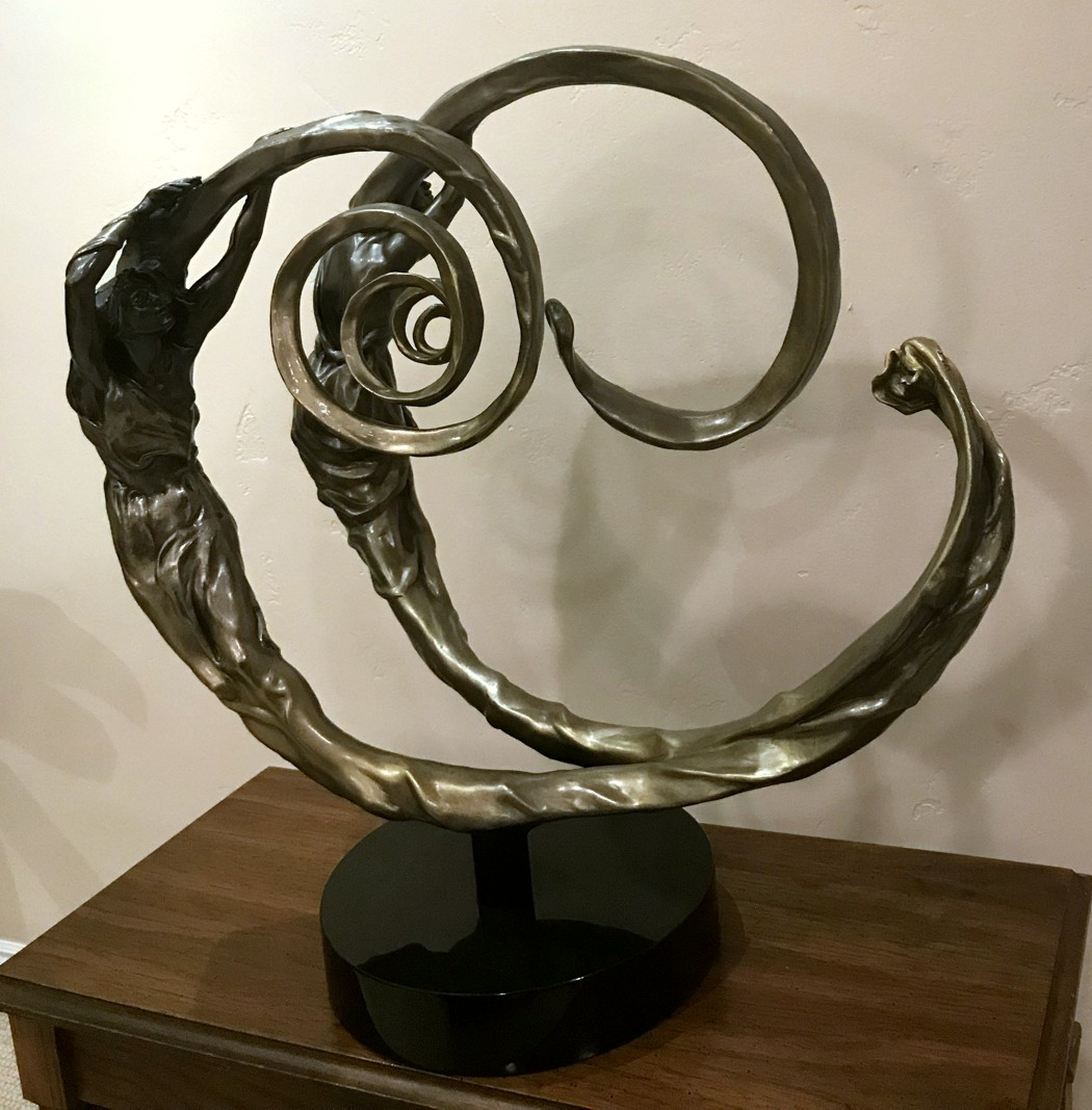 M.L. Snowden - Golden Spiral -  Bronze Sculpture