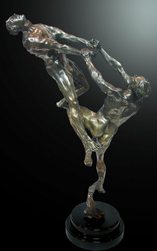 M.L. Snowden - Gravity Bronze Sculpture