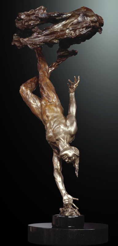 M.L. Snowden - Rainpillar Bronze Sculpture