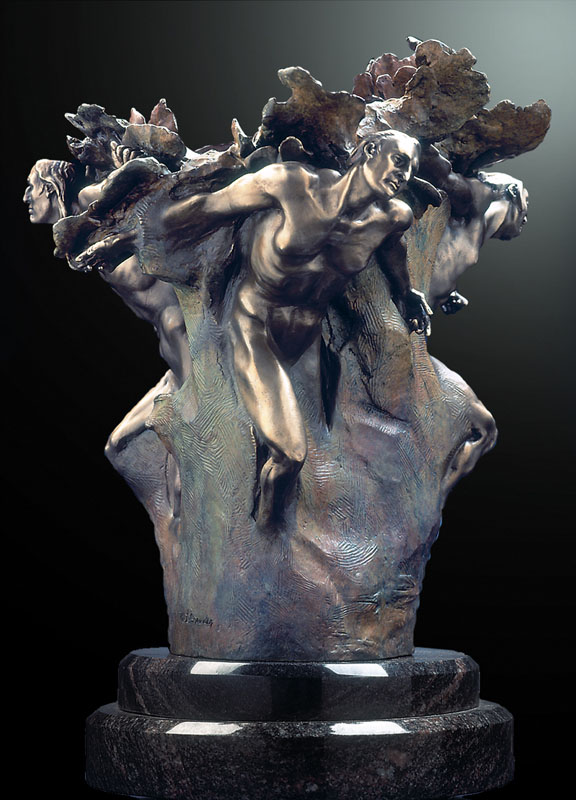 M.L. Snowden - Tectonics Europe - Bronze Sculpture