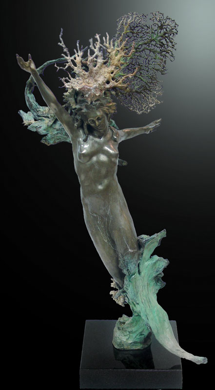 M.L. Snowden - Valentin Sea Fan Bronze Sculpture