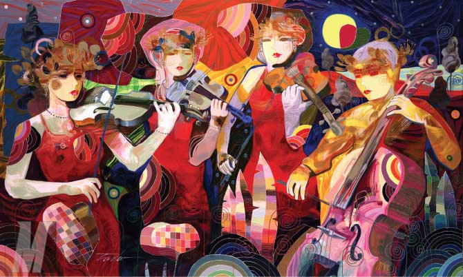 Tadeo Zavaleta - Enchanting Music - limited edition print on Canvas