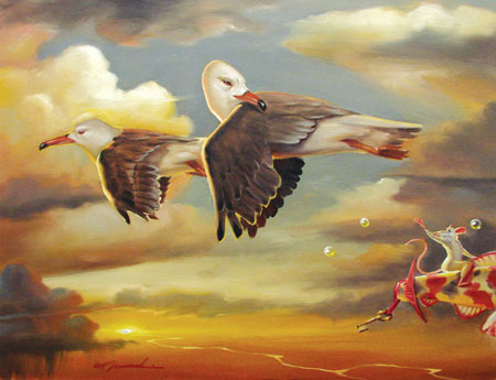 ABOVE AND BEYOND 25 x 33 Original Oil on Canvas by Glen Tarnowski