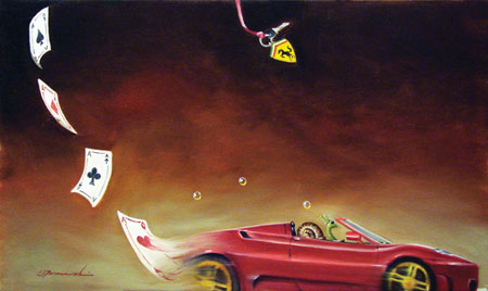 Glen Tarnowski - FAST TIMES 15 x 25 Original Oil on Canvas