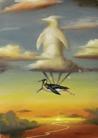 FLYING HIGH 24 x 17 Original Oil on Canvas by Glen Tarnowski
