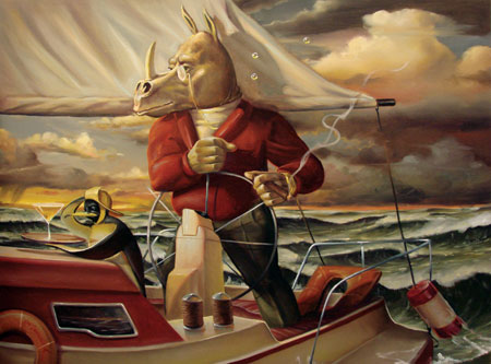LIFE OF RILEY (SAIL) 30 x 40 Original Oil on Canvas by Glen Tarnowski
