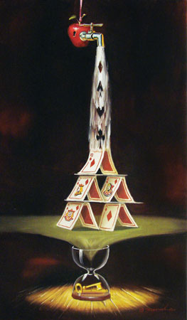 Glen Tarnowski - Royal Flush 11 x 19 Original Oil on Canvas