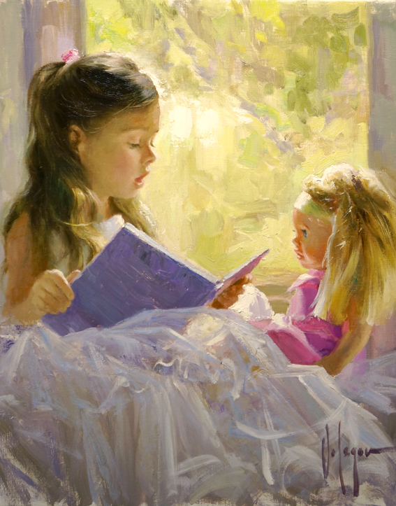 Vladimir Volegov - Child 3 - Original Acrylic on Canvas Painting