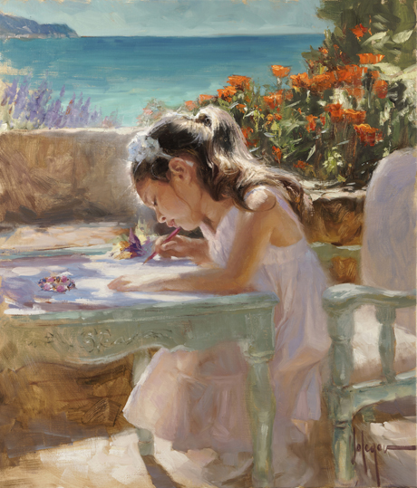 Vladimir Volegov - Drawing girl