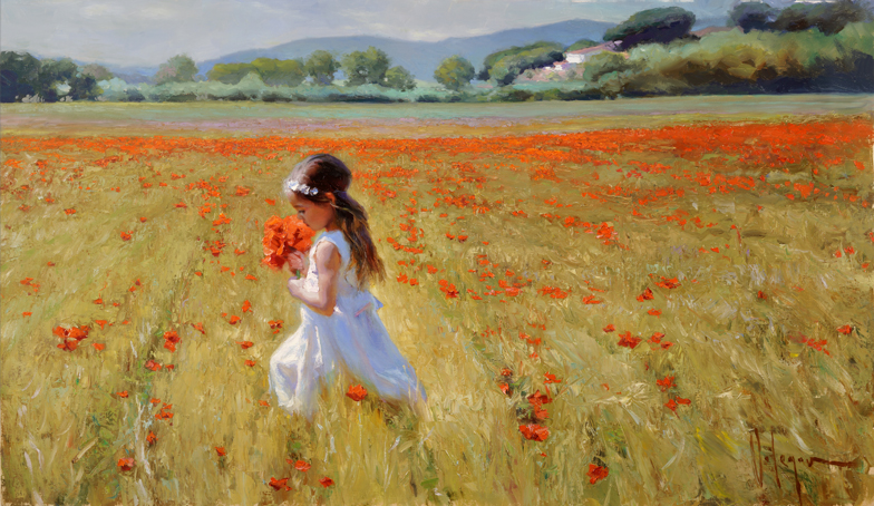 Vladimir Volegov - On poppy field