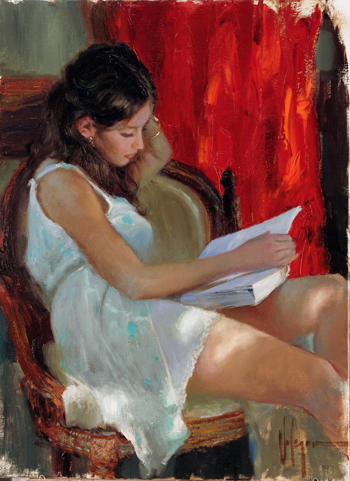 Vladimir Volegov - Reading a Novel