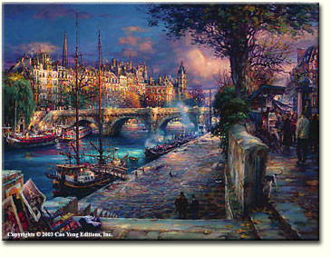 BANKS OF LA SEINE by Cao Yong