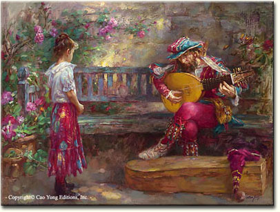 GIRL WITH MUSICIAN by Cao Yong