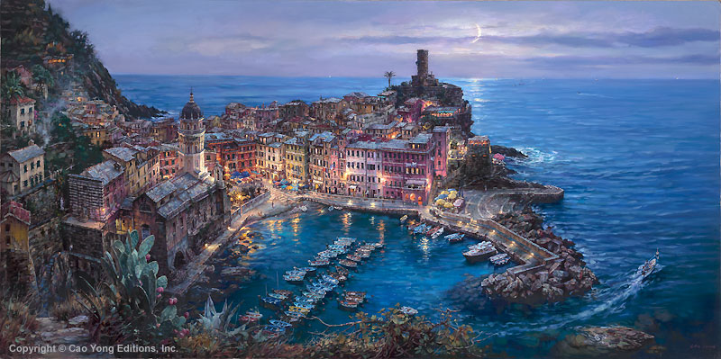 Moonlight in Vernazza by Cao Yong