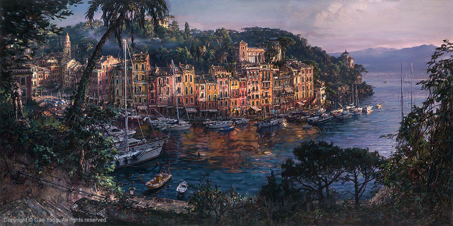 Morning in Portofino by Cao Yong