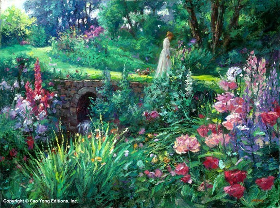 A Walk in the Garden by Cao Yong